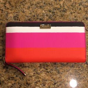 Kate Spade Wallet Pink Orange White Black NWT